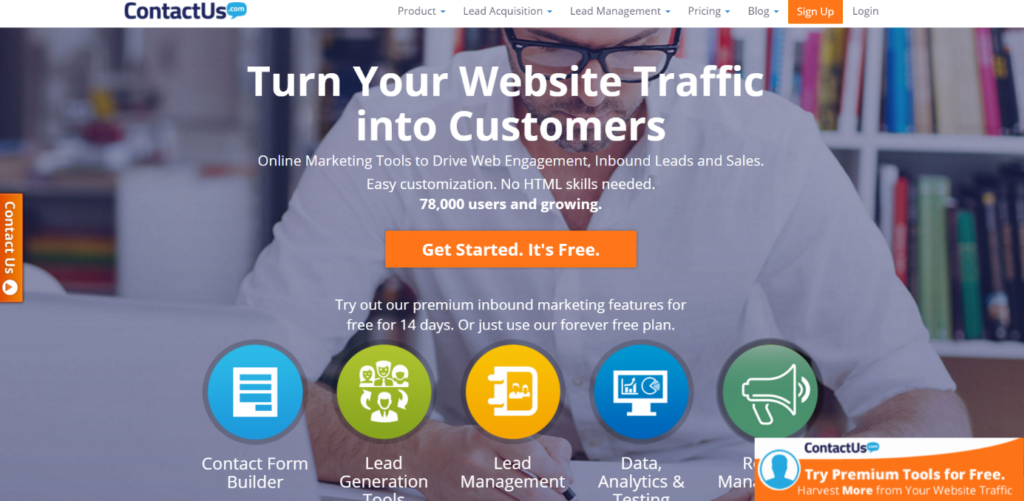 ContactUs.om lead generation WordPress plugin