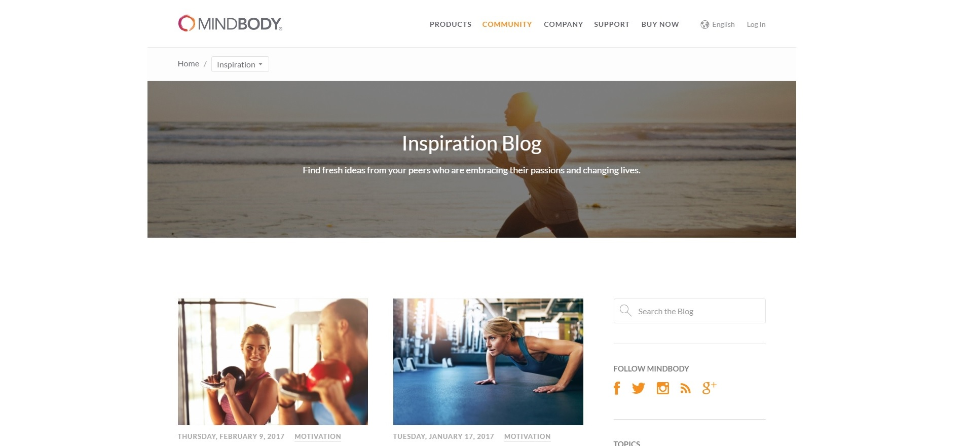 MindBody Inspiration Blog
