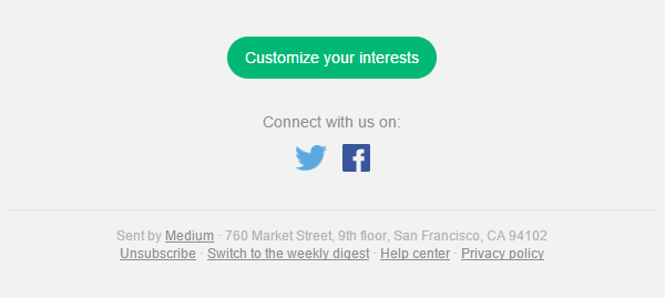 medium cta social footer