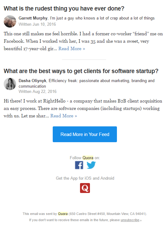 quora final answers cta social footer