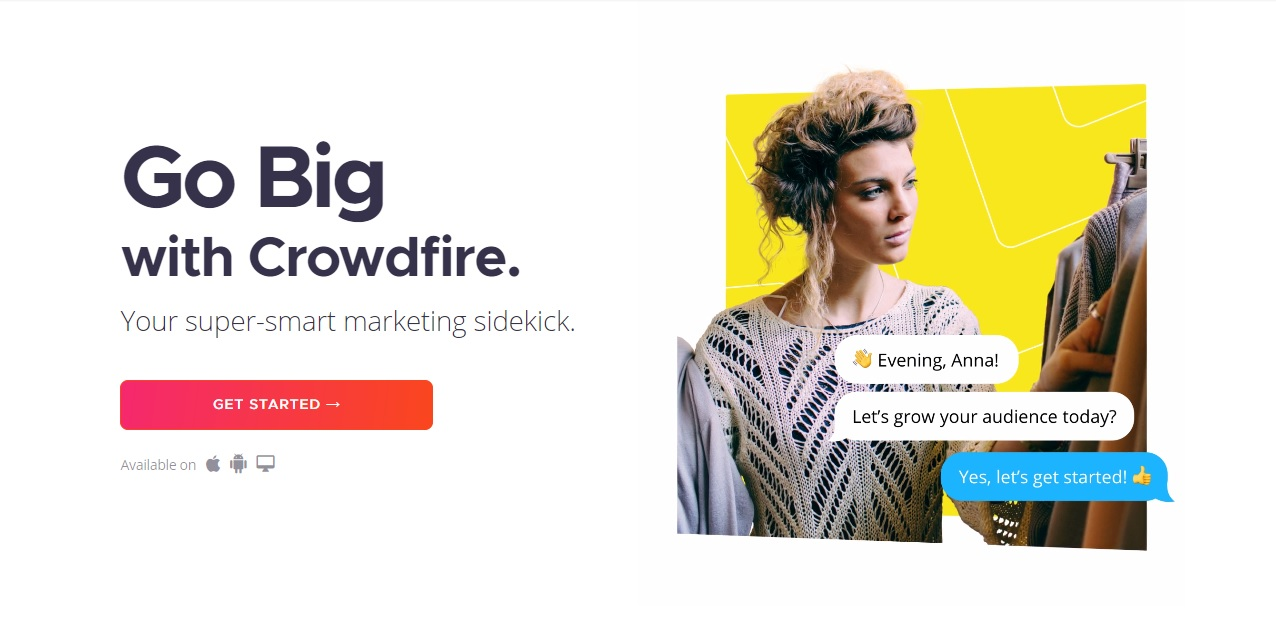 crowdfire sales copy example