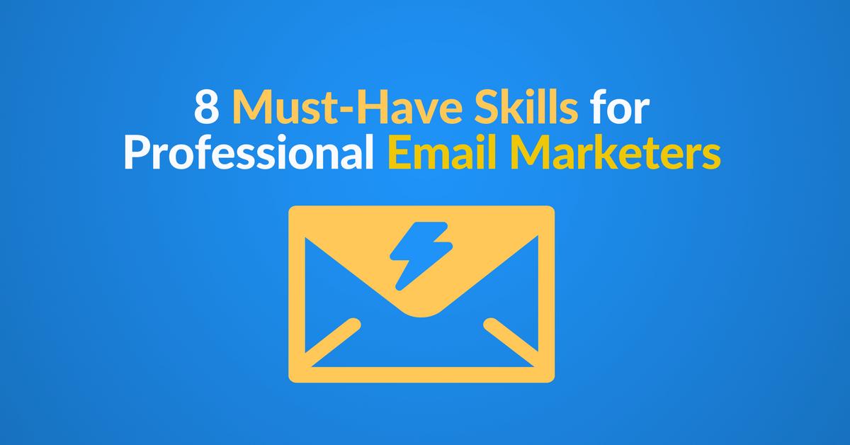 email marketer skillset