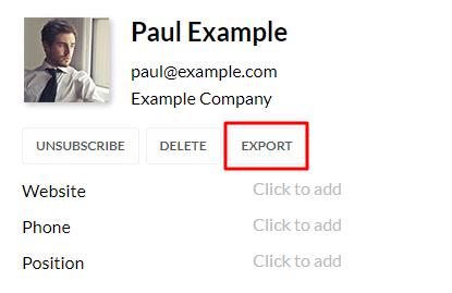 contact data export