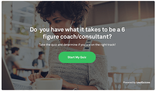 generate lead with quizzes