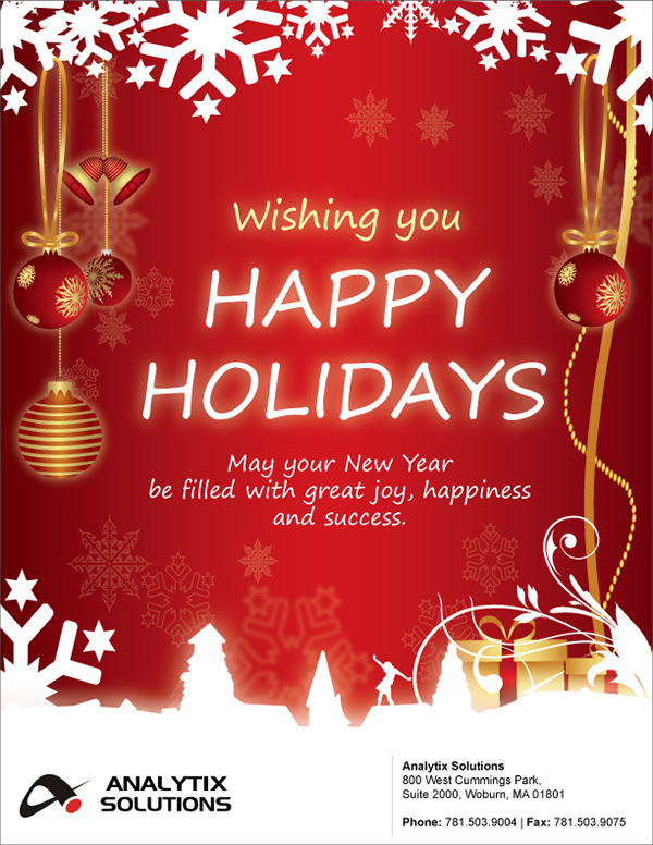 Wishing you Happy Holidays Analytix Solutions
