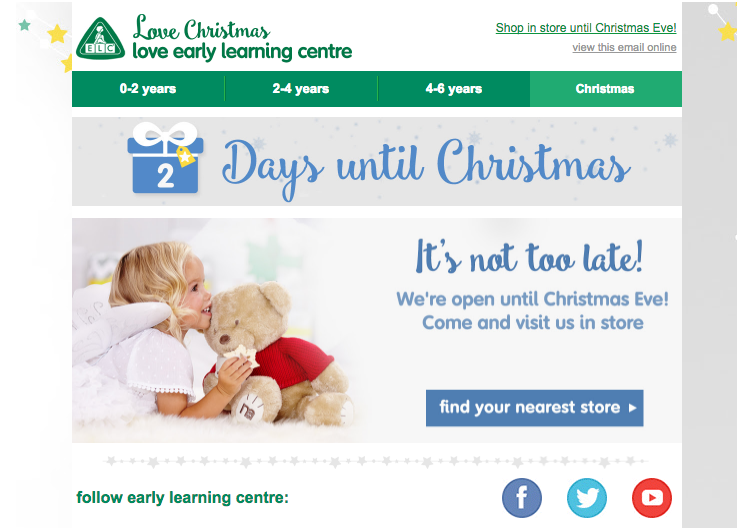 2 Days until Christmas, find your nearest store