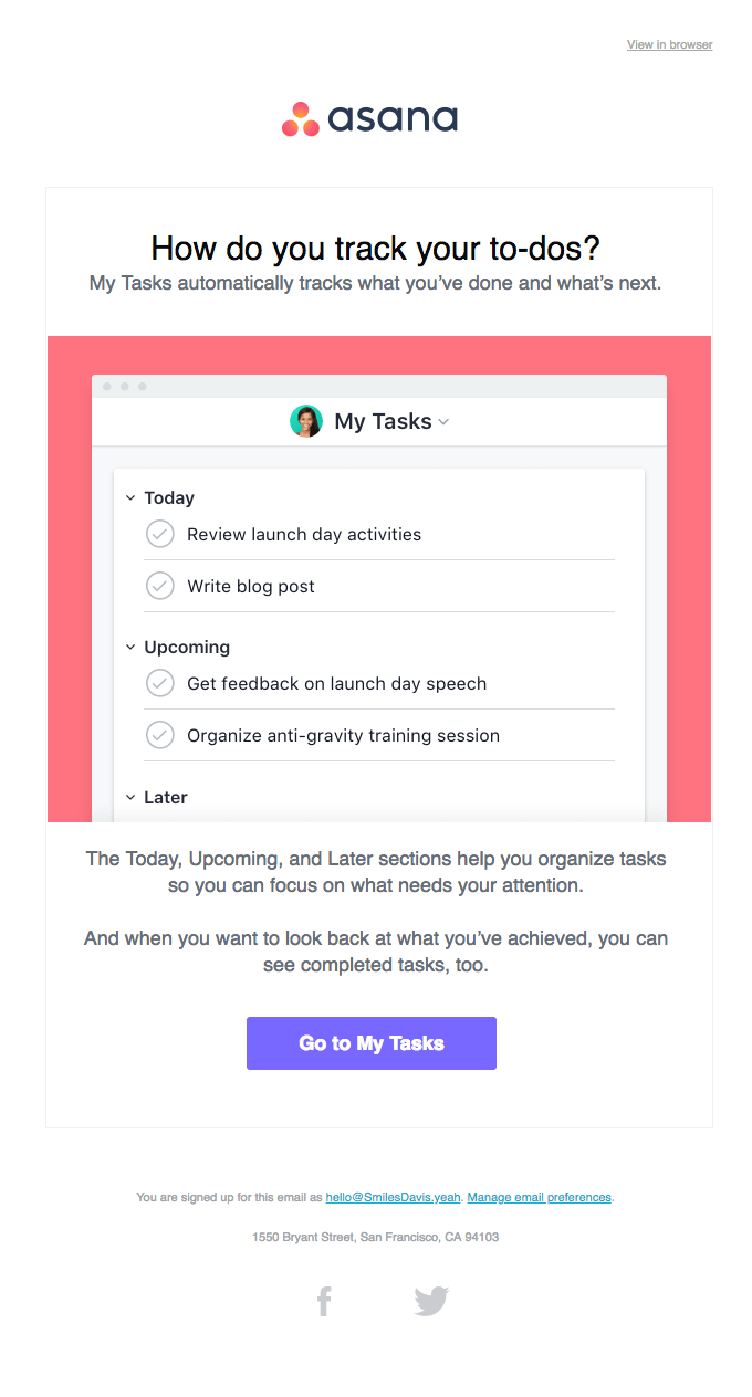 How do you track your to-dos? Asana onboarding email autoresponder
