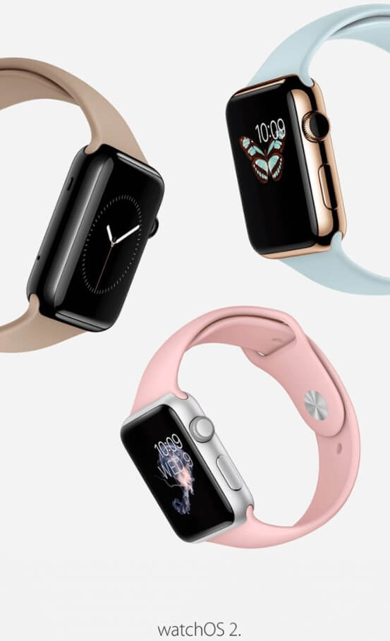 Apple WatchOS 2 announcement email sample