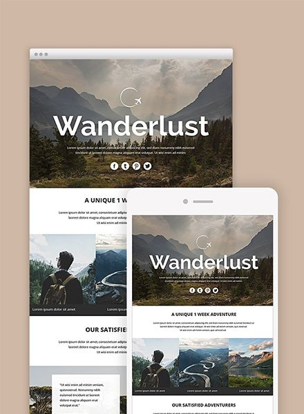 Wanderlust personalized email campaigns design
