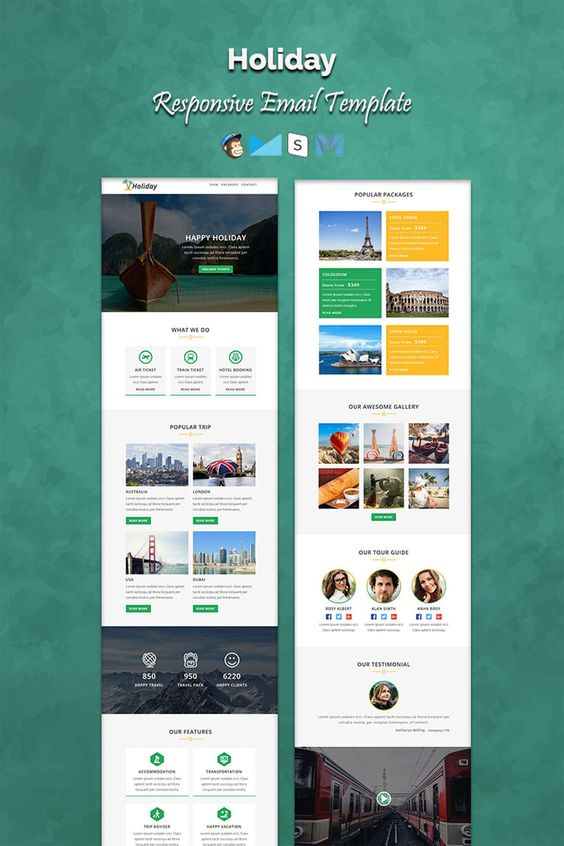 Mailchimp Holiday Responsive Email Template