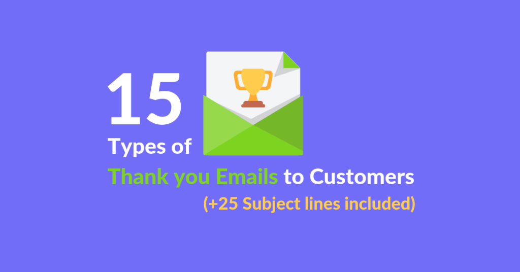 15 types of thank you emails featured image of blog article of Automizy