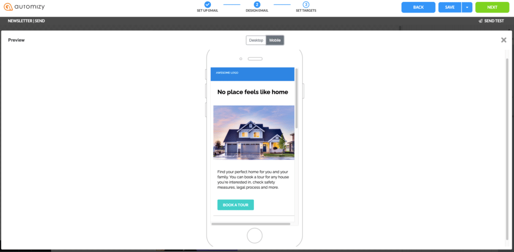 Preview email for responsiveness