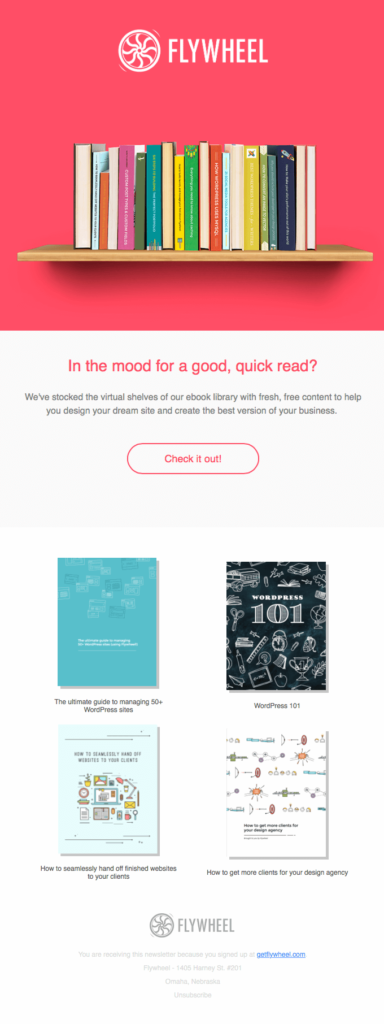 Flywheel B2B email template
