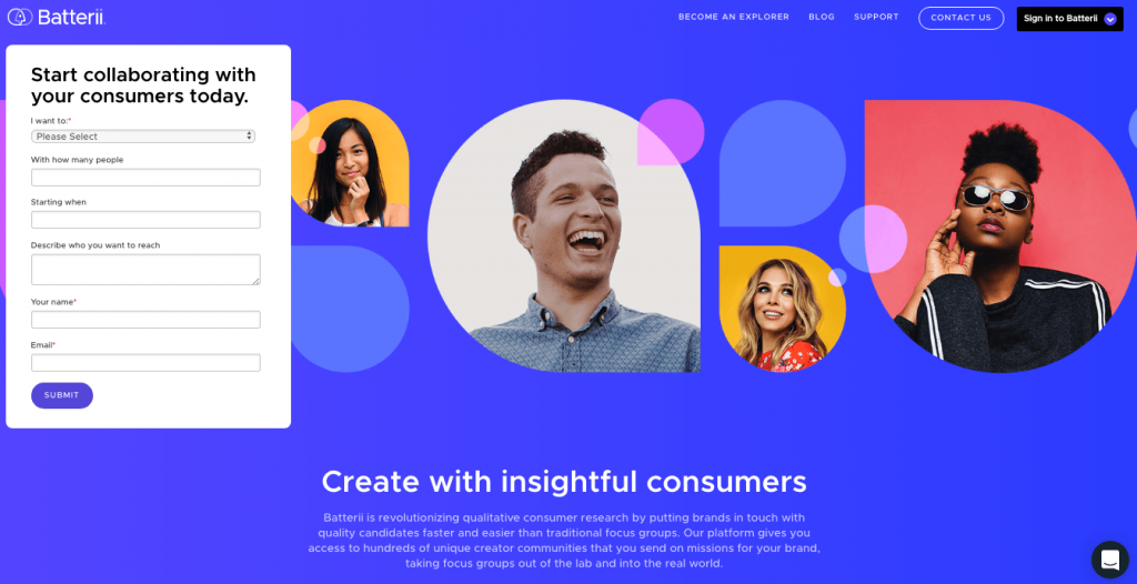 Landing page with human images to increase conversion rates