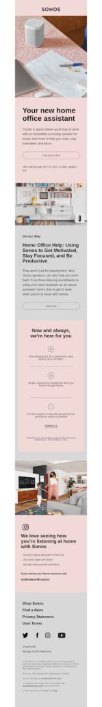 Sonos email design example