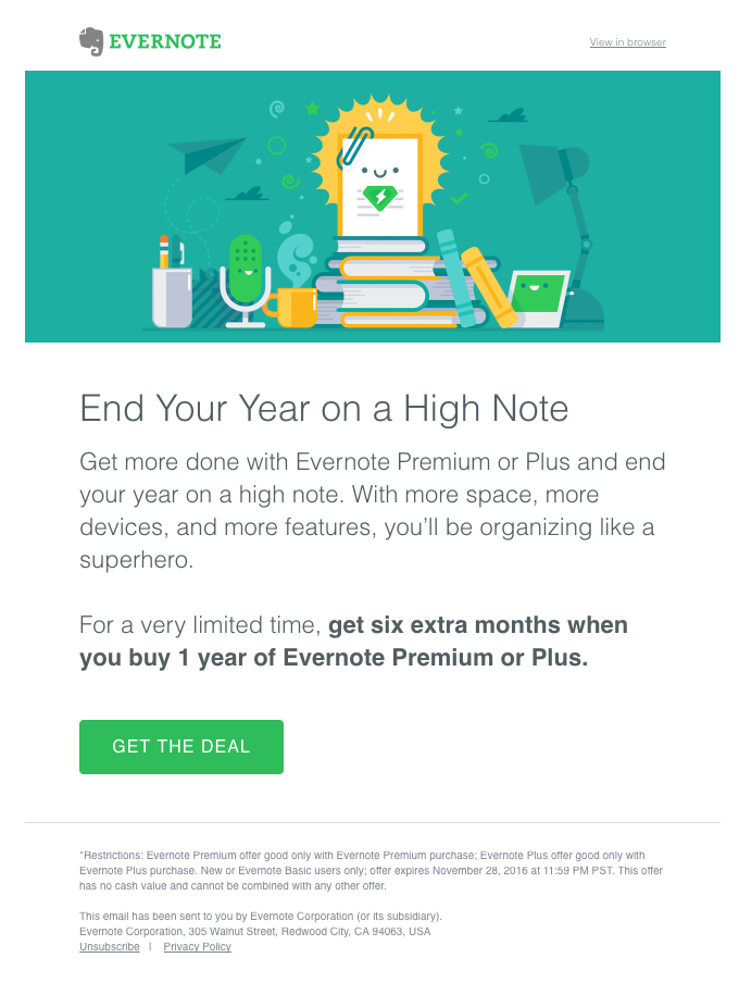 Upsell email template to increase your end of the year revenue by sending an upsell email
