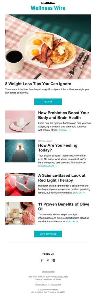 healthcare email template for newsletter