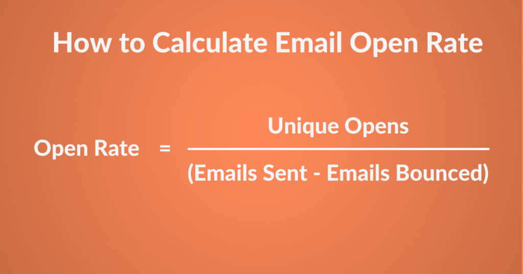 email open rate calculation formula
