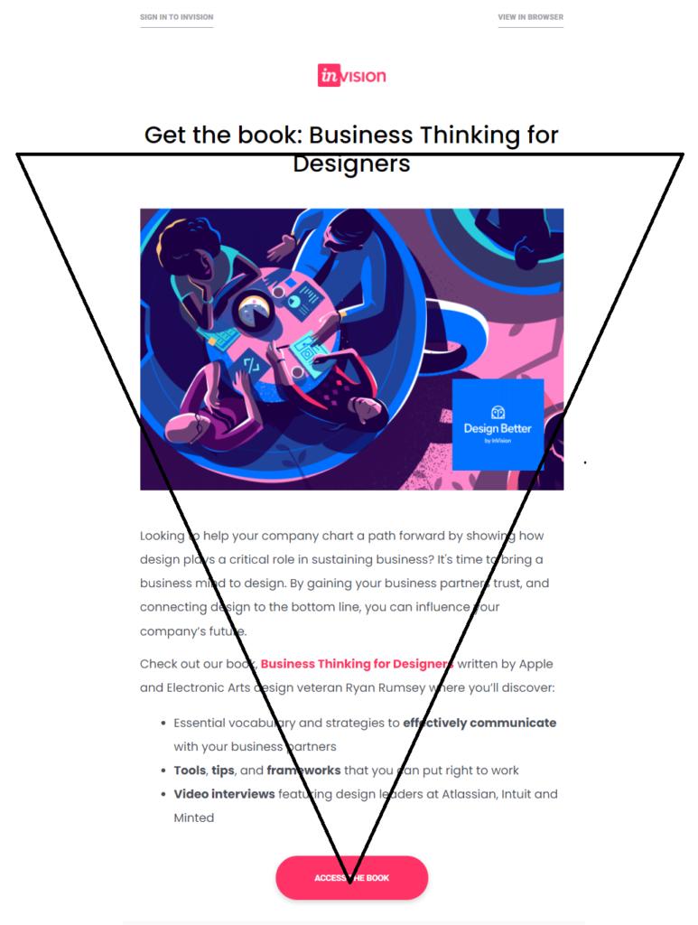 CTA focused email design