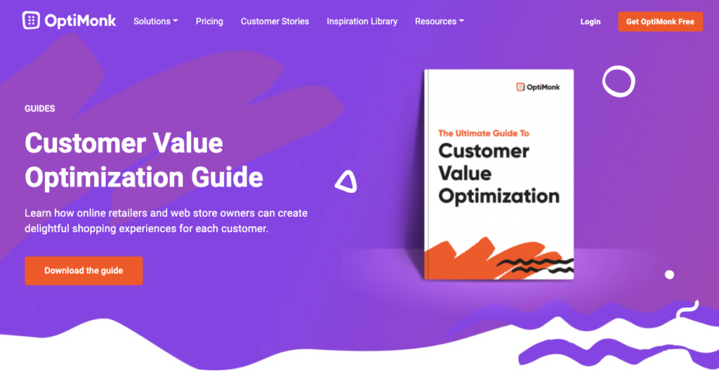 Lead magnet example from OptiMonk as a SaaS marketing best practice