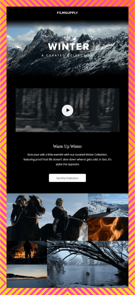 visuals in emails by including a video