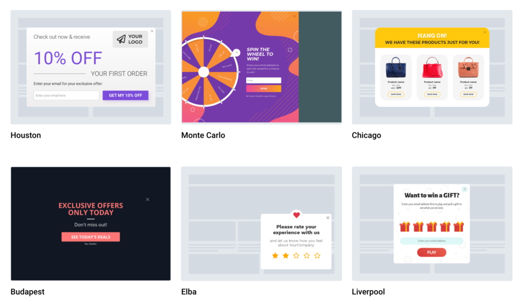 Popup examples to use for SaaS businesses