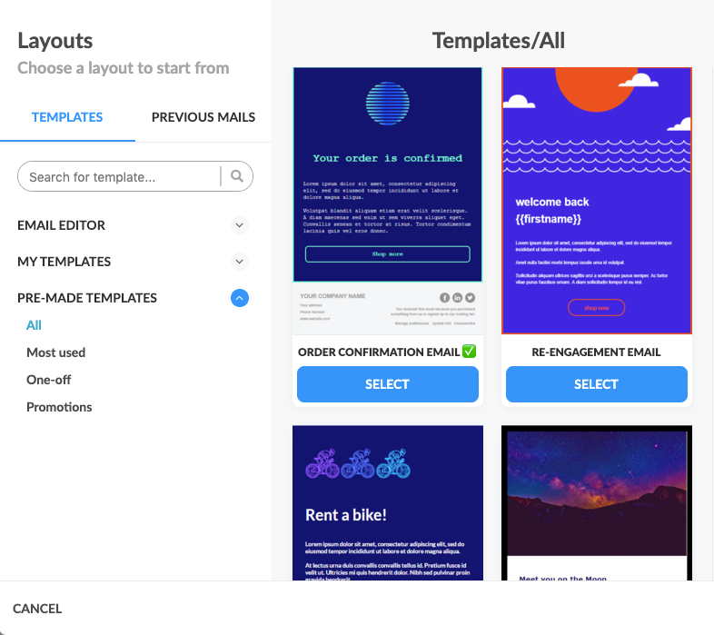 Automizy's re-engagement email templates