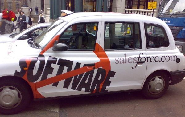 First SaaS marketing campaign by Salesforce in 2004