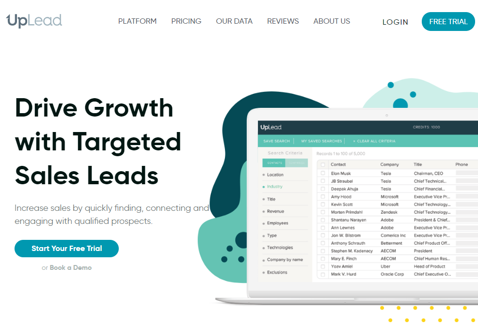 Drive growth with targeted sales leads Uplead