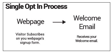 Single opt-in subscription process
