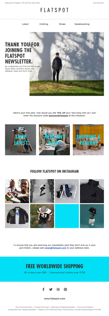 Flatspot customer appreciation email template