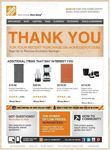 Upsell new customers in your thank you transactional email
