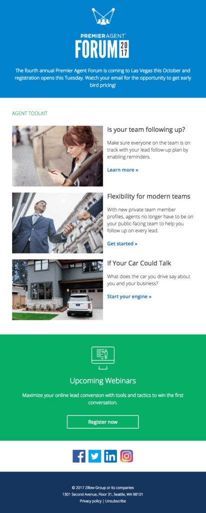 Zillow B2B responsive email template