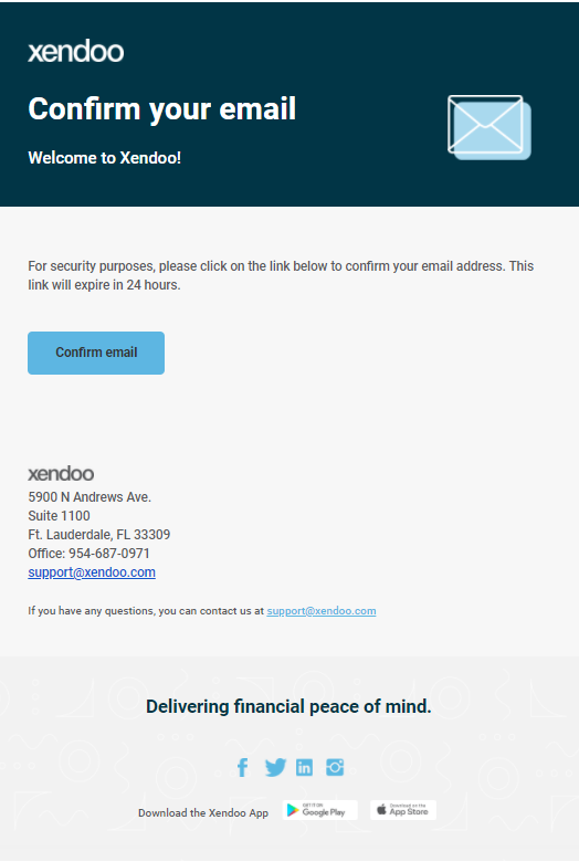 Confirmation email example for accounting