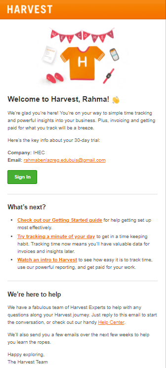 animated email example for financial service