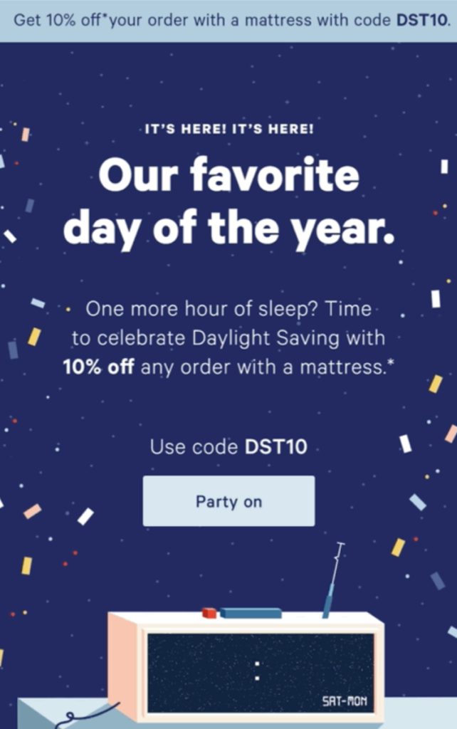 Sales code discount for a limited time from Casper to their customers