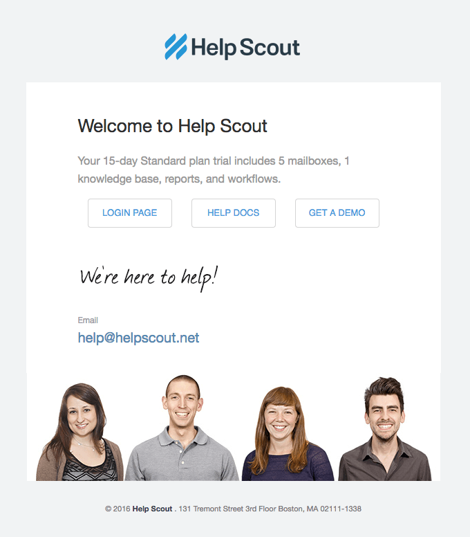 HelpScout email template