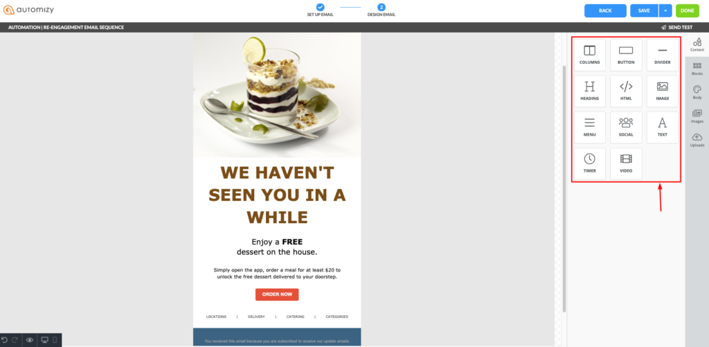 Design re-engagement email template