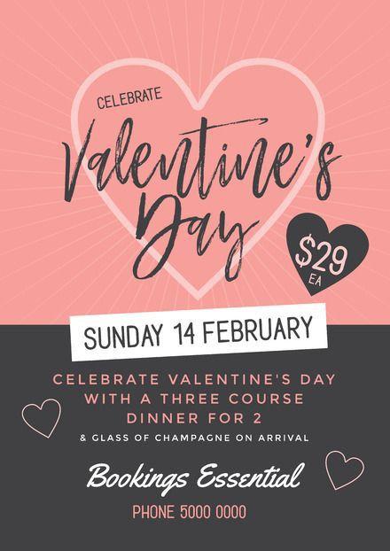 Celebrate Ventine's Day invitation email sample