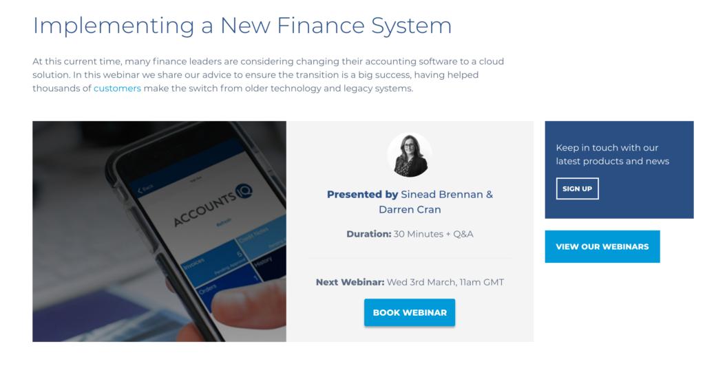 Webinar idea to grow email list for accountants